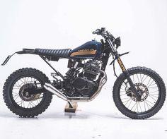 "On BikeBound.com: ""Growler"" Honda Dominator #scrambler by @neuga_budapest / @robigaragebp. Link in Profile #honda #nx650 #dominator #dualsport"