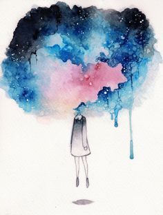 My soul is in the sky pretty art, 2019 watercolor art, watercolor paintings v Galaxy Painting, Galaxy Art, Eye Painting, Watercolor Art Paintings, Watercolor Drawing, Watercolor Galaxy, Watercolor Ideas, Art Sketches, Art Drawings