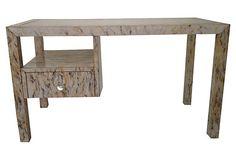 One Kings Lane - Streamlined Design - Marbleized Acrylic Desk