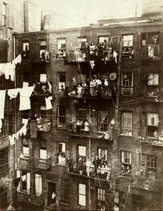 Vintage: new york 1800's - lower east side tenements (and we thought college dorms were tiny, ugh)