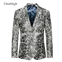 Printing Male Blazers Single Breasted Jackets