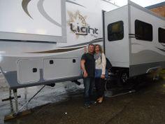 Congratulations Manuela & John.  Enjoy your new Open Range Light 315BHS 5th Wheel.