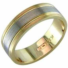 Two Tone Triumphant Men's Wedding Band