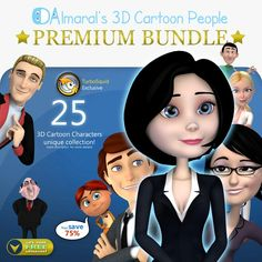 3D Cartoon Characters collection bundle