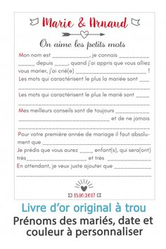 Livre d'or à trou pour mariage Our Wedding, Dream Wedding, Free Ebooks, Textbook, Party Themes, Wedding Planner, Bridesmaid, How To Plan, Wedding Souvenir