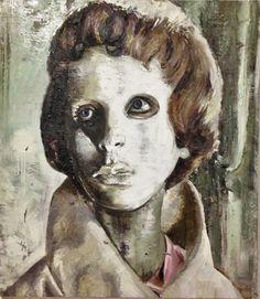 Cabeça de mulher com mascara