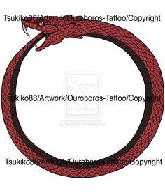 ouroboros | Ouroboros-Tattoo by Tsukiko88