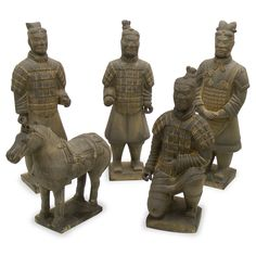 11in Terracotta Soldiers 5pc/ Set