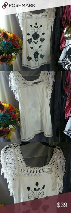 Free people never worn Super adorable and the tag says small but fits med/large Free People Dresses Midi