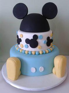 Bolo do Mickey azul decorado Mais