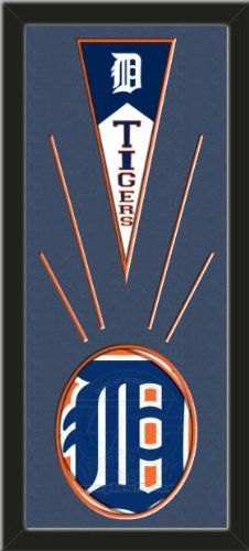 Detroit Tigers Wool Felt Mini Pennant & Detroit Tigers Team Logo Photo - Framed With Team Color Double Matting In A Quality Black Frame-Awesome & Beautiful-Must For A Championship Team Fan! Most NFL, MLB, NBA, Teams Available-Plz Mention In Gift Message If Need A different Team Art and More, Davenport, IA http://www.amazon.com/dp/B00HZGXKNG/ref=cm_sw_r_pi_dp_eXAEub16BVYTH