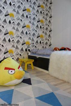 Valontalo │Boys Room #wallpaper #missprint #angrybirds #boysroom