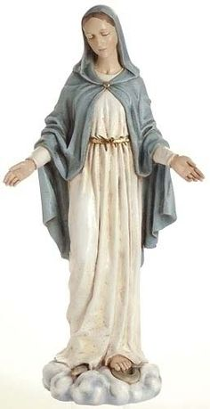 Item #17641 - Full Color Our Lady of Grace Statue -24 inches tall