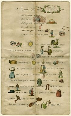 A Christmas letter by Catherine Sinclair, 1862 - there was a Trixie Belton book where they found some old magazines in an attic with these types of puzzles in them.