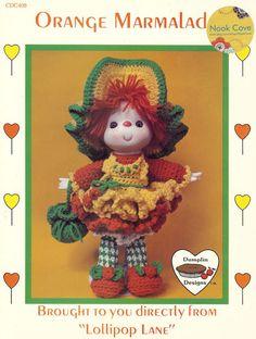 Vintage Orange Marmalade 14 inch Doll a Dumplin Design by NookCove, $5.99  Orange Marmalade is back in stock!