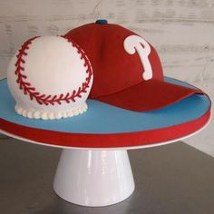 Love this Philadelphia Phillies Baseball Cap Cake by #whippedbakeshop for $300.00 as pictured http://www.whippedbakeshop.com