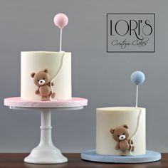 Baby shower cake party time в 2019 г. baby birthday cakes, c Gateau Baby Shower, Baby Shower Cupcakes, Shower Cakes, Twin Birthday Cakes, Decoration Patisserie, Twins Cake, Teddy Bear Cakes, Girl Cakes, Buttercream Cake