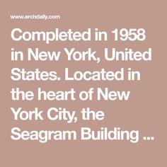 Mies Van Der Rohe Design Philosophy.12 Best Mies Images Seagram Building Building Design Ludwig