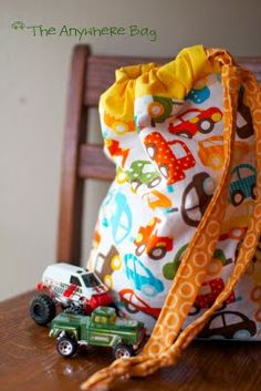 """perfect """"anywhere"""" bag. i can see this as a church bag, dance bag, or bring along every toy you own bag. plus, it's reversible!"""