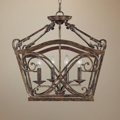 """Reserve Collection 20 1/2"""" Wide 4-Light Foyer Chandelier - keeping room off kitchen"""
