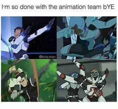 Whoever draws the in-between frames for Voltron must be having the time of their life