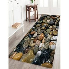 $13.98 Sea Stone Pattern Water Absorption Area Rug - W16 Inch * L47 Inch