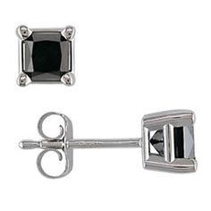 black diamond studs