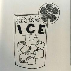 Let's take ice tea
