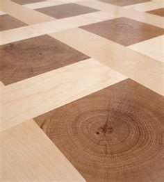 Maple and white oak end grain basket weave pattern