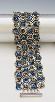 Backstory Beads: A Time to Stitch Five - Reveal - O. Mosaic Cuff from Rachel Nelson Smith's Seed Bead Fusion: