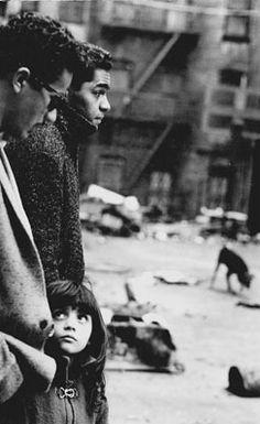 Steve Schapiro, Two men and a girl, East Harlem, New York, 1960