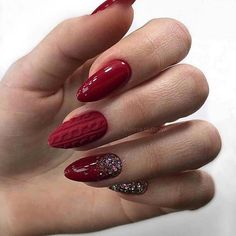 50 Chic Burgundy Nail Designs for Winter 2019 - - My Winter Nails Coffin Burgundy Nail Designs, Burgundy Nails, Burgundy Color, Best Nail Art Designs, Winter Nail Designs, Red Acrylic Nails, Red Nails, Nail Pink, Orange Nail