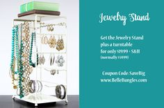It's time to Organize. Get the BelleDangles Jewelry Stand for only $20 plus shipping. Holds your entire collection. Up to 200 pieces of jewelry!