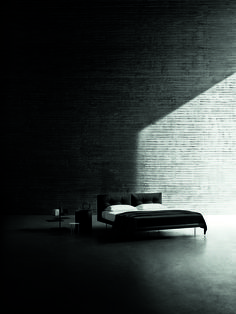 Rod bed for a relaxing tuesday! Design Piero Lissoni, third shot by Tommaso Sartori for the 2017 campaign, styling +Elisa Ossino @ Cavallerizze. Fashion Branding, Bed Design, Tuesday, Beds, Third, Campaign, Bedroom, Dark, Style