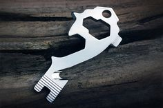 """One complaint of multitools is that they're usually a little bulkier than a pocket knife. Nobody wants to feel the multitool everytime they sit down, amiright?   The [MSTR Key](http://amzn.to/2loYObZ) is a unique solution to this problem. It fits on your keychain and is identical to the size of a key. It includes:   * 4 wrenches * 4 screwdrivers * bottle opener * pry bar * cutter * 1/4"""" drive  All edges are safe and engineered for pockets."""