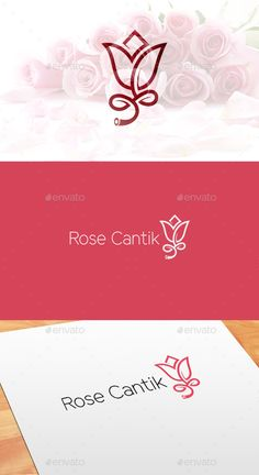 Rose Cantik Flowers — Vector EPS #rose logo #beautifull logo • Available here → https://graphicriver.net/item/rose-cantik-flowers/17976062?ref=pxcr