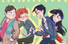 Cartman, Kyle, Stan, & Wendy ~ jealousy