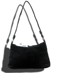 Black Velvet Kylie Bag Quilted Handbag by Donna Sharp Sells in upscale stores for $22.99 Model 12989