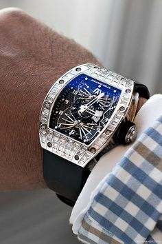 One-off bespoke Richard Mille RM022 Aerodyne Tourbillon. The cost equivalent of a Bugatti Veyron and Ferrari 458 combined.