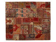 Handmade natural fibre rug PATCHWORK CLASSIC - Golran