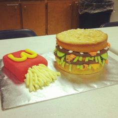 Character Cakes - Pure Confection  Big Mac cake for Ronald McDonald House  www.pureconfection.webs.com  www.facebook.com/pureconfection
