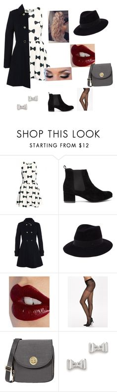"""""""Now ties"""" by glittergirl155 on Polyvore featuring Miss Selfridge, Maison Michel, Charlotte Tilbury, Pieces, Baggallini and Marc by Marc Jacobs"""