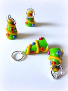Christmas tree stitch markers winter by AbsoKnittingLutely on Etsy, £8.00
