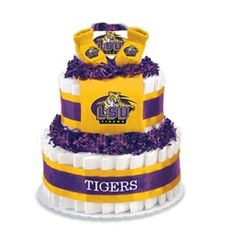 LSU Diaper Cake