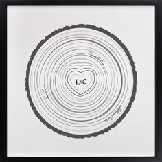 Family Tree Rings print with kid's names around the center $48