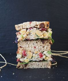 Cranberry Walnut Chickpea Salad Sandwich - The Simple Veganista