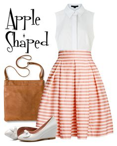 """""""Stripes for your body type - Apple shaped"""" by taylor-jones-viii on Polyvore featuring Alexander Wang, Merona and Rumour London"""