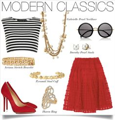 Channel your inner Jackie O in this classic. The crop top, updated pearls and gold accents assure you'll be perfectly on-trend.    www.stelladot.com/nicolecordova