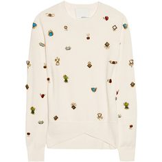 3.1 Phillip Lim Embellished wool sweater ($550) ❤ liked on Polyvore