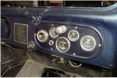 Another shot of an RP dash clearly showing Magmo speedo, which are renowned for their outstanding accuracy. Austin Seven, Motorcycle Bike, Classic Cars, Motorcycles, Vans, Layout, Box, Page Layout, Biking